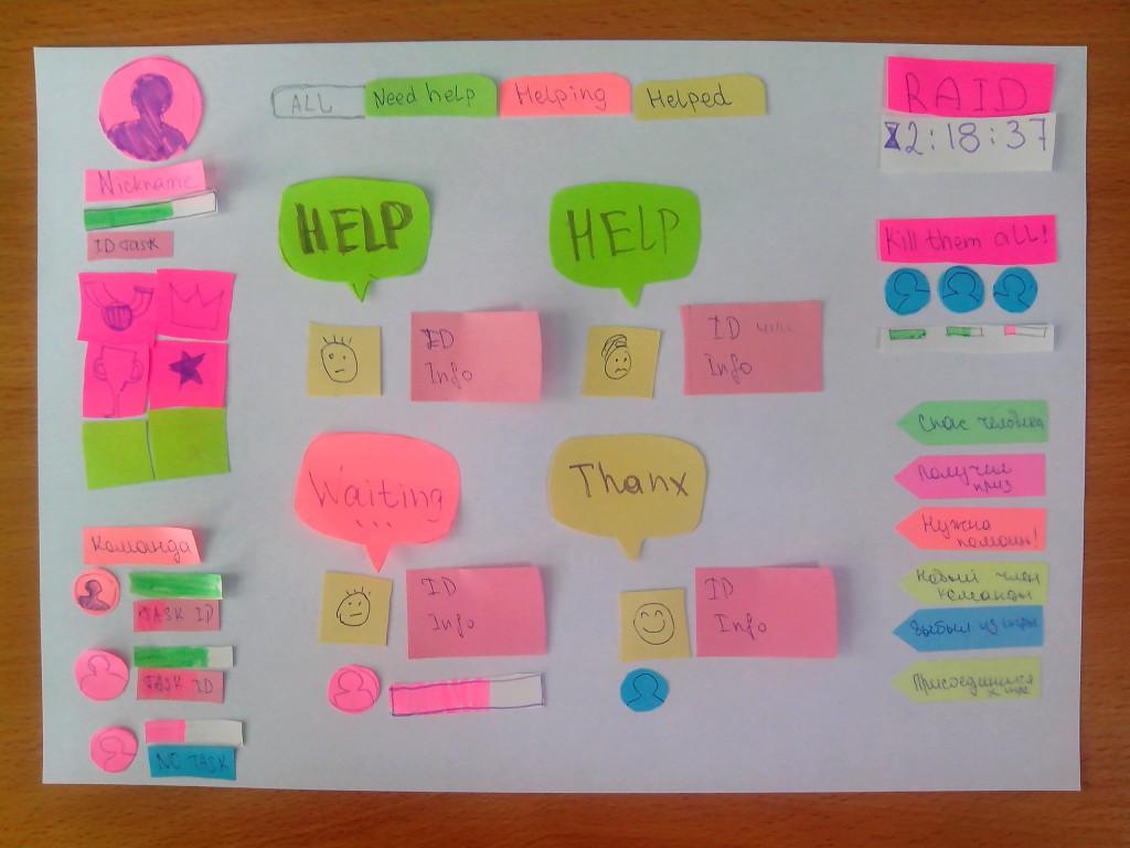 Прототипирование пользовательского интерфейса