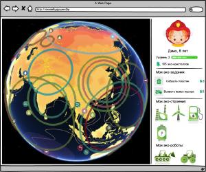 скетч интерфейса для экологического проекта